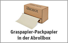 Graspapier-Packpapier in der Abrollbox