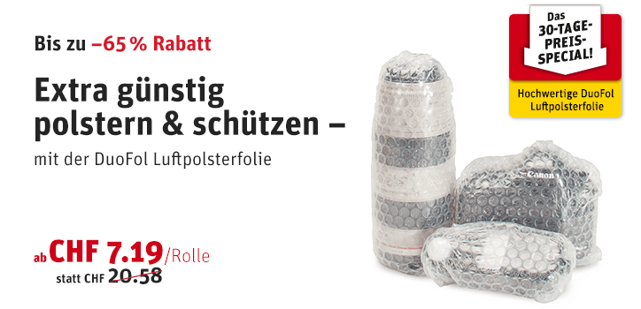 30-Tage-Preis-Special: DuoFol Luftpolsterfolie