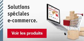 Solutions spéciales e-commerce.
